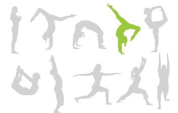 Free keep fit vectors give your designs a workout! - Free vector #178551