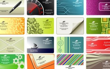 Free vector business card templates - бесплатный vector #178571