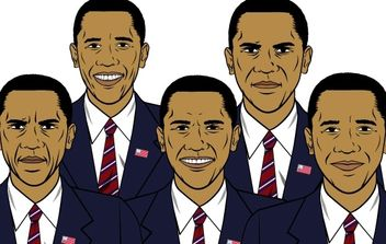 Barack Obama mix - Free vector #178661
