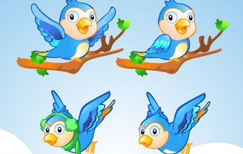 Free Vector Character Little Blue Bird - Kostenloses vector #178831