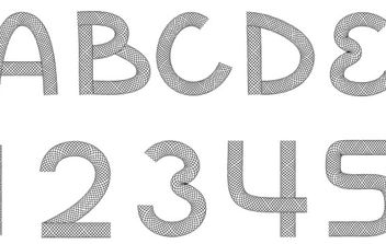 Wire Font - Kostenloses vector #178961