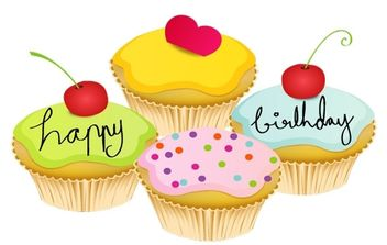 May Cupcake Vectors - vector gratuit #179041
