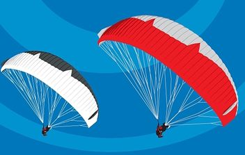 Tandem Paragliders in flight - vector gratuit #179361