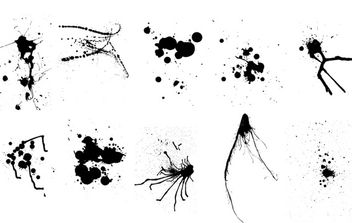 Vector Ink & Paint Splatters - Free vector #179391