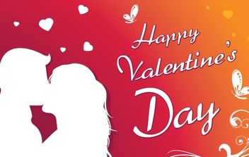 Happy Valentine's day greeting card - vector gratuit #179421