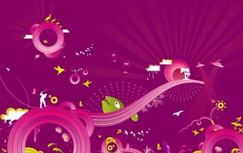 Purple madness - Free vector #179441