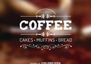 Rustic Swirls Vintage Coffee Logo - Free vector #179461
