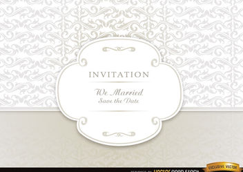 Wedding invitation card - vector gratuit #179571