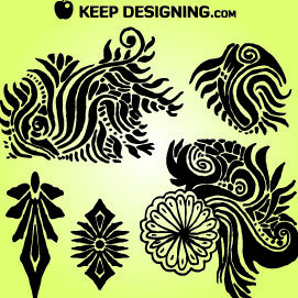 Organic Tribal Floral Pack - Free vector #179661