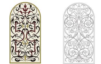 Marquetry ornament - бесплатный vector #179671