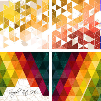 Abstract Triangular Polygon Colorful Backgrounds - Free vector #179681