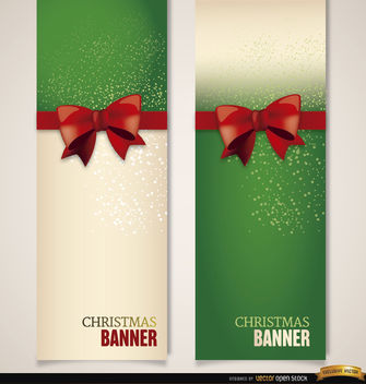 Christmas bookmarks ribbon bow - Free vector #179741