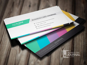 Creative Business Card with Arrowheads - vector gratuit #180021