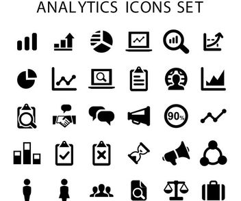 Chart & Analytical Business Icons Pack - vector gratuit #180041