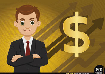 Executive money growing arrows - vector gratuit #180221