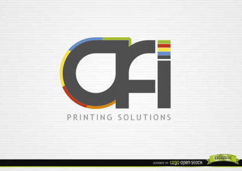 OFI Typographic Printing Solution Logo - Free vector #180331