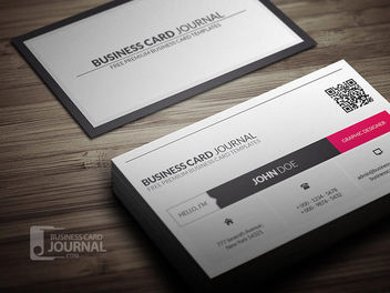 QR Code Corporate Business Card - Free vector #180411
