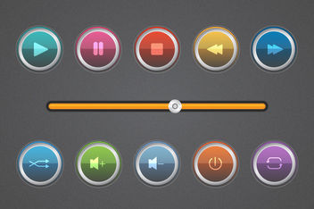 Music Player Kit Pack - vector #180421 gratis