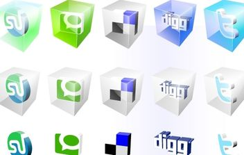 Free Vector Social Bookmark Icons - Free vector #180681
