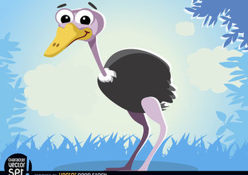 Ostrich animal cartoon - Free vector #180831