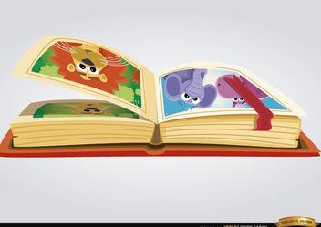 Children book with cartoon images - бесплатный vector #180841
