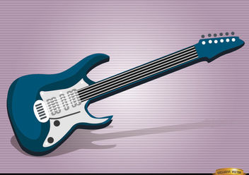 Electric guitar musical instrument - Free vector #180871
