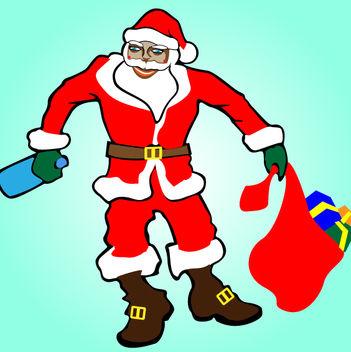Artistic Drunk Santa Claus - Free vector #181151