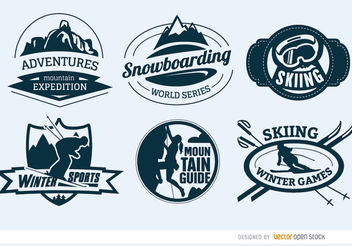 6 Extreme sports badges - Free vector #181181