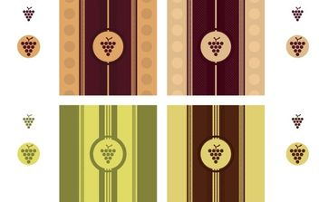 Wine Label - Free vector #181231