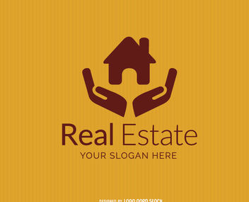 House on Hands Real Estate Logo - vector gratuit #181341