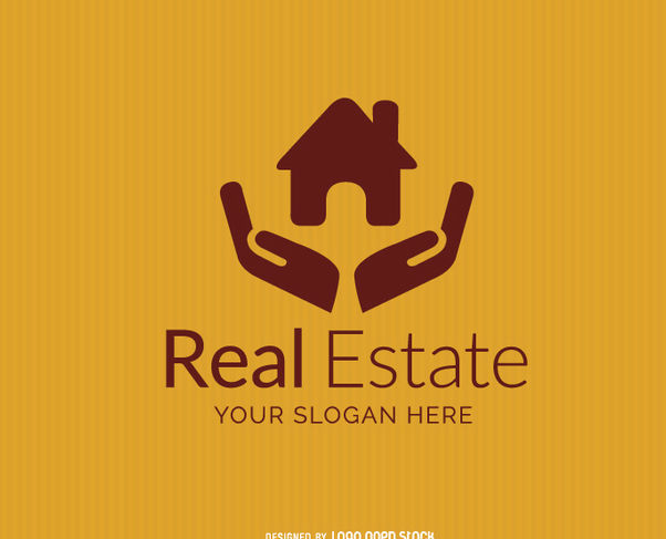 House on Hands Real Estate Logo - Free vector #181341