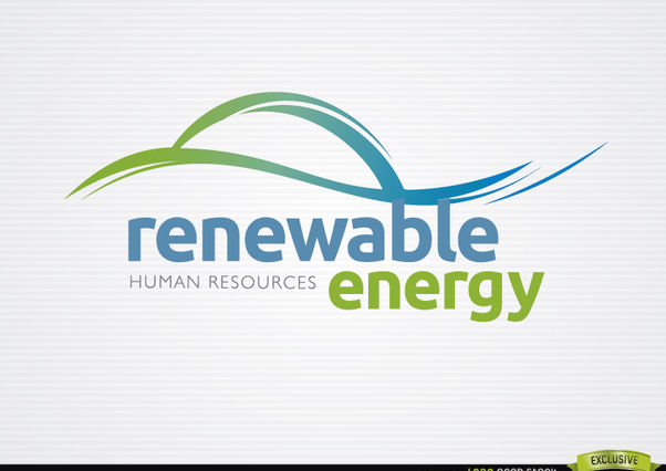 Renewable energy waves logo - Free vector #181401