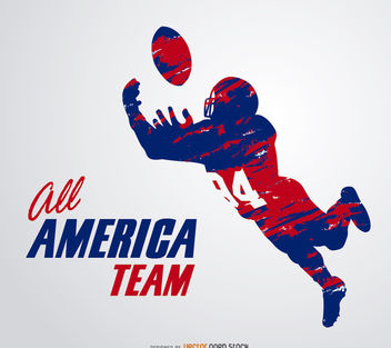 American Football Grunge - vector #181431 gratis