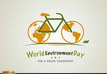 Bicycle environment day green transport - Free vector #181461
