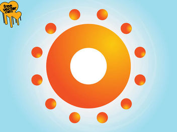 Abstract Bright Sun Symbol - Kostenloses vector #181501