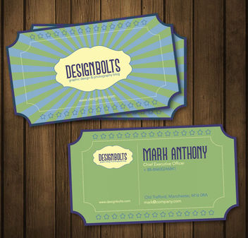 Retro Business Card Template - vector gratuit #181511
