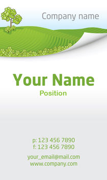 Nature Business Card Template - vector #181521 gratis