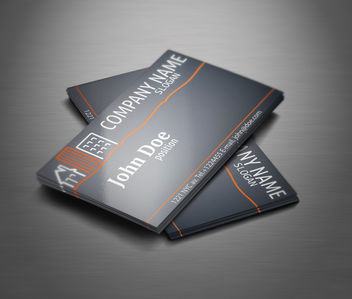 Real Estate Black Business Card - vector #181531 gratis
