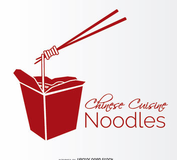 Noodles box - vector gratuit #181551