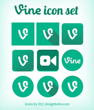 Green Vine Icon Pack - vector gratuit #181751