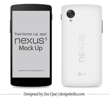 Front & Back Google Nexus 5 Smart Phone - vector gratuit(e) #181861