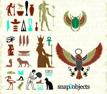 Egyptian Ancient Culture Element Pack - vector #181951 gratis