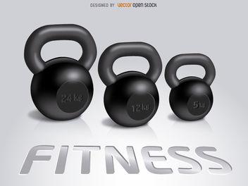 3 Fitness Kettlebells - Free vector #181971