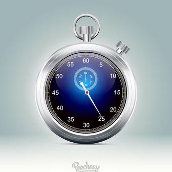 Stunning Glossy Metallic Rim Stopwatch - Free vector #181991