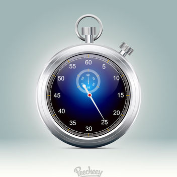 Stunning Glossy Metallic Rim Stopwatch - бесплатный vector #181991