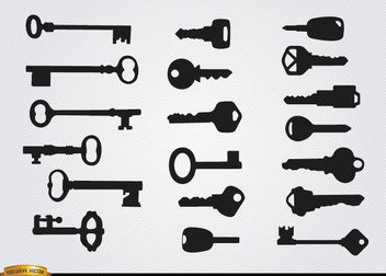 Old and modern Keys silhouettes - vector gratuit #182031