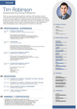Classic 1 Page Resume Template - Free vector #182081