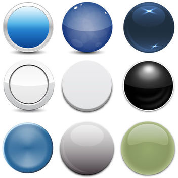 Glossy Web Button Pack - Free vector #182281