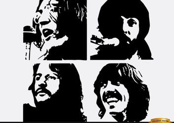The Beatles Let It be silhouettes - Free vector #182341