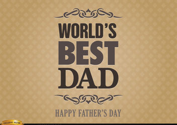 Father's day label world best dad - Free vector #182521